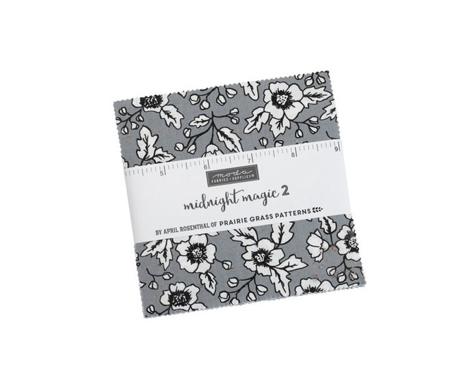 """Midnight Magic 2 Charm Packs (40 - 5"""" x 5"""" Squares) designed by April Rosenthal"""