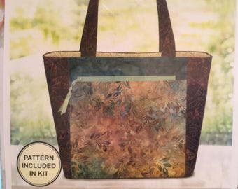 "Pink Sand Beach Designs Hanalei Handbag Kit designed by Nancy & Michelle Green, 15 1/2"" wide x 11 1/2"" Tall x 4"" deep"