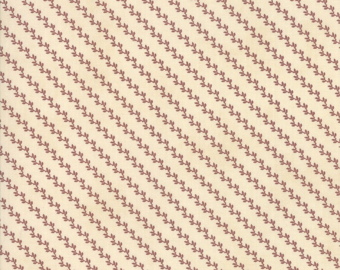 Marches de Noel Parchment Crimson Stripes designed by 3 Sisters