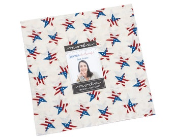 """American the Beautiful Layer Cake (40 - 10"""" x 10"""" Squares) designed by Deb Strain"""