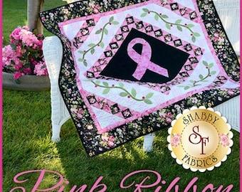 "Pink Ribbon Wall Hanging Pattern designed by Shabby Fabrics, 44 1/2"" x 44 1/2"""