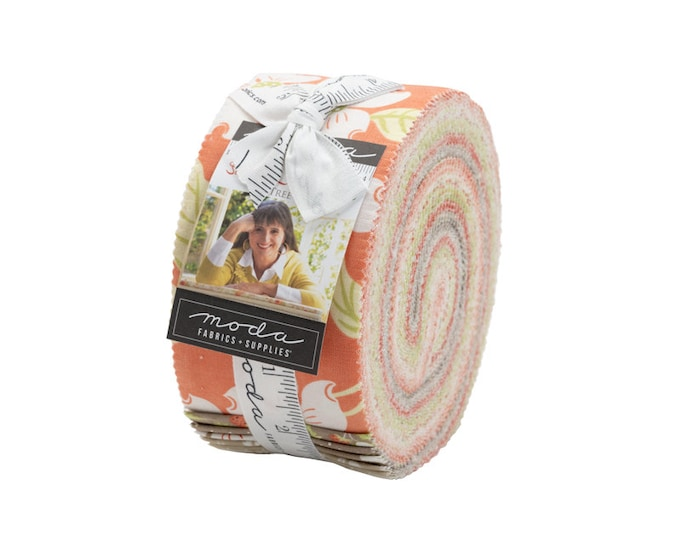 """Strawberries & Rhubarb Jelly Roll (40 - 2 1/2"""" x WOF Strips) designed by Fig Tree Co"""