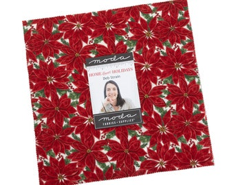 """Home Sweet Holidays Layer Cake (40 - 10"""" x 10"""" Squares) designed by Deb Strain"""
