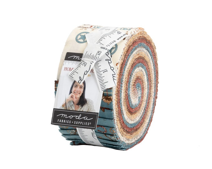 """Home on the Range Jelly Roll (42 - 2 1/2"""" x WOF Strips) designed by Coach House Designs"""
