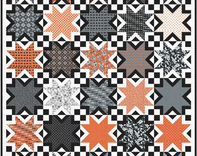 """Midnight Magic 2 Sugarbuzz Layer Cake friendly Pattern, 42"""" x 50"""" designed by April Rosenthal"""