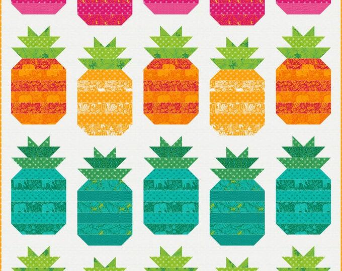 "Jungle Paradise Pineapple Pop Pattern, 62"" x 84"" designed by Stacy Iest Hsu"