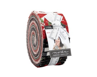"""Home Sweet Holidays Jelly Roll (40 - 2 1/2"""" x WOF Strips) designed by Deb Strain"""