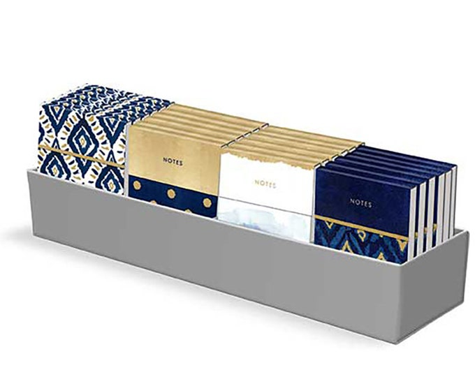 "Pocket Notepad Indigo designed by Moda Fabrics, 3"" x 4"""