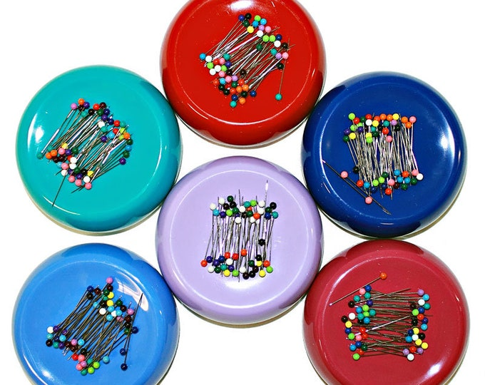 Grabbit Magnetic Pincushion, No more picking up spilled pins one by one-sweep them up with your Grabbit.