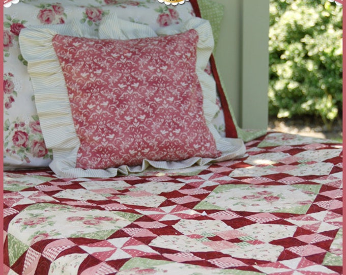 Romantic Roses Pattern designed by Shabby Fabrics, 5 sizes included