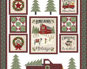 """Homegrown Holidays Kit designed by Deb Strain and Coach House Designs, 54"""" x 58"""""""