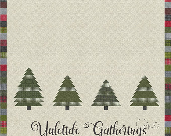 Yuletide Gatherings Pattern Book, 9 Quilt Patterns & 5 Projects including ornaments and stockings, designed by Lisa Bongean