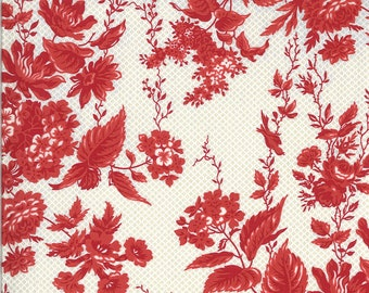 Roselyn Floral Taupe Red (14910 14) designed by Minick & Simpson