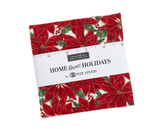 """Home Sweet Holidays Charm Packs (40 - 5"""" x 5"""" Squares) designed by Deb Strain"""