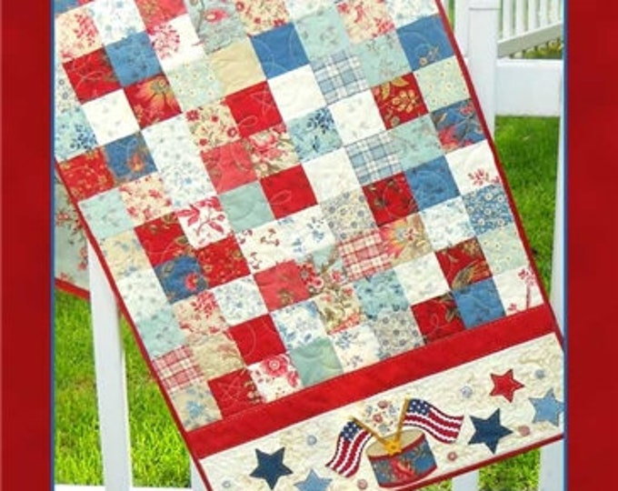"""American Glory Table Runner Pattern designed by Shabby Fabrics, 18 1/2"""" x 51 1/2"""""""