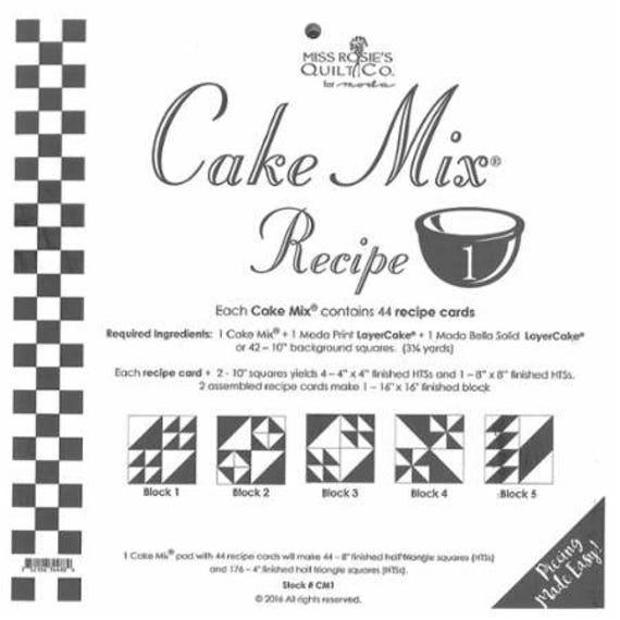 Buy Cake Mix Recipe By Moda