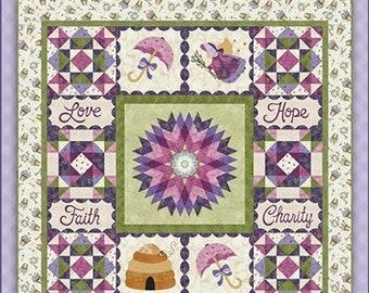 "Garden Thyme Pattern designed by Shabby Fabrics, 58 1/2"" x 58 1/2"""
