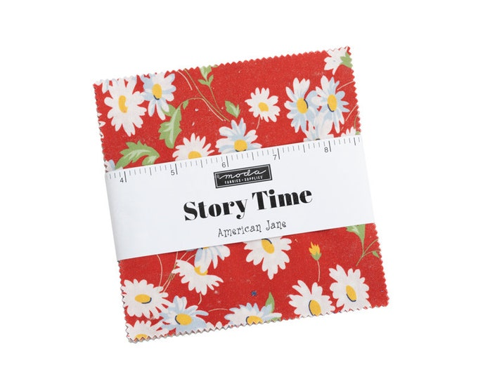 """Story Time Charm Packs (40 - 5"""" x 5"""" Squares) designed by American Jane"""
