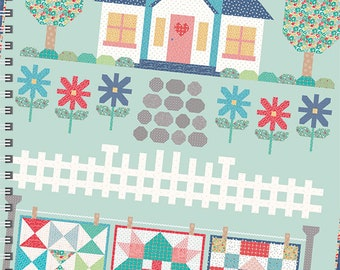 Quilters Cottage Pattern Book, contains main Quilt, Tablerunner and 3 Pillows designed by Lori Holt