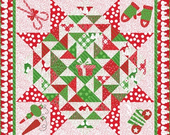 """Merry and Bright Be Jolly Table Square Pattern Pattern, 57"""" x 57"""" designed by Me and My Sister Designs"""