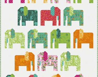 """Jungle Paradise Stomping Ground Quilt Kit, 48"""" x 60"""" designed by Stacy Iest Hsu"""