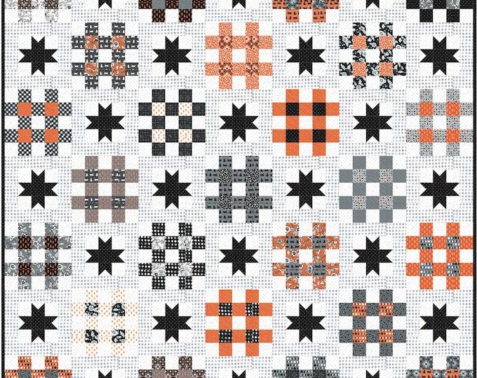 "Midnight Magic 2 Nightlock Jelly Roll friendly Pattern, 70"" x 70"" designed by April Rosenthal"