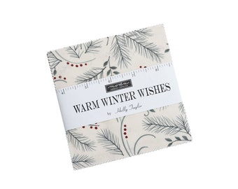 """Warm Winter Wishes Charm Packs (42 - 5"""" x 5"""" Squares) designed by Holly Taylor"""