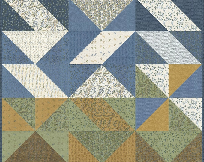 """Fall Fantasy Flannels Fall Awakening Lap Quilt Pattern, 54"""" x 63"""" designed by Coach House Designs"""