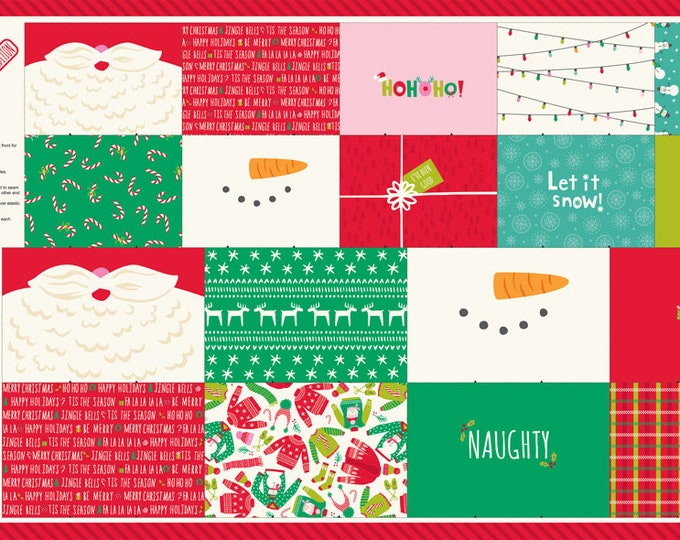 """Kids Christmas Face Mask Panel, 24"""" x 44"""", face mask project for kids designed by Stacy Iest Hsu"""