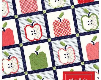 "Gala Apple Pattern designed by April Rosenthal, 57"" x 57"""