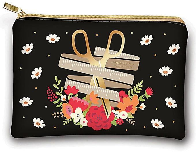 "Glam Bag, Floral Scissors by Moda, 8 x 5.5"", Vinyl"