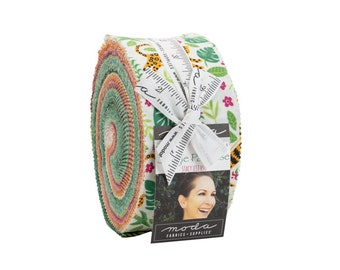 """Jungle Paradise Jelly Roll (40 - 2 1/2"""" x WOF Strips) designed by Stacy Iest Hsu"""