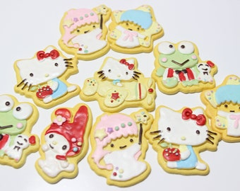 1 pc Kawaii Character cookie resin flatback