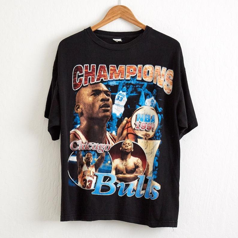 b7167d77dcf83f Vtg RARE 1997 Chicago Bulls NBA Finals Champions T Shirt Sz.