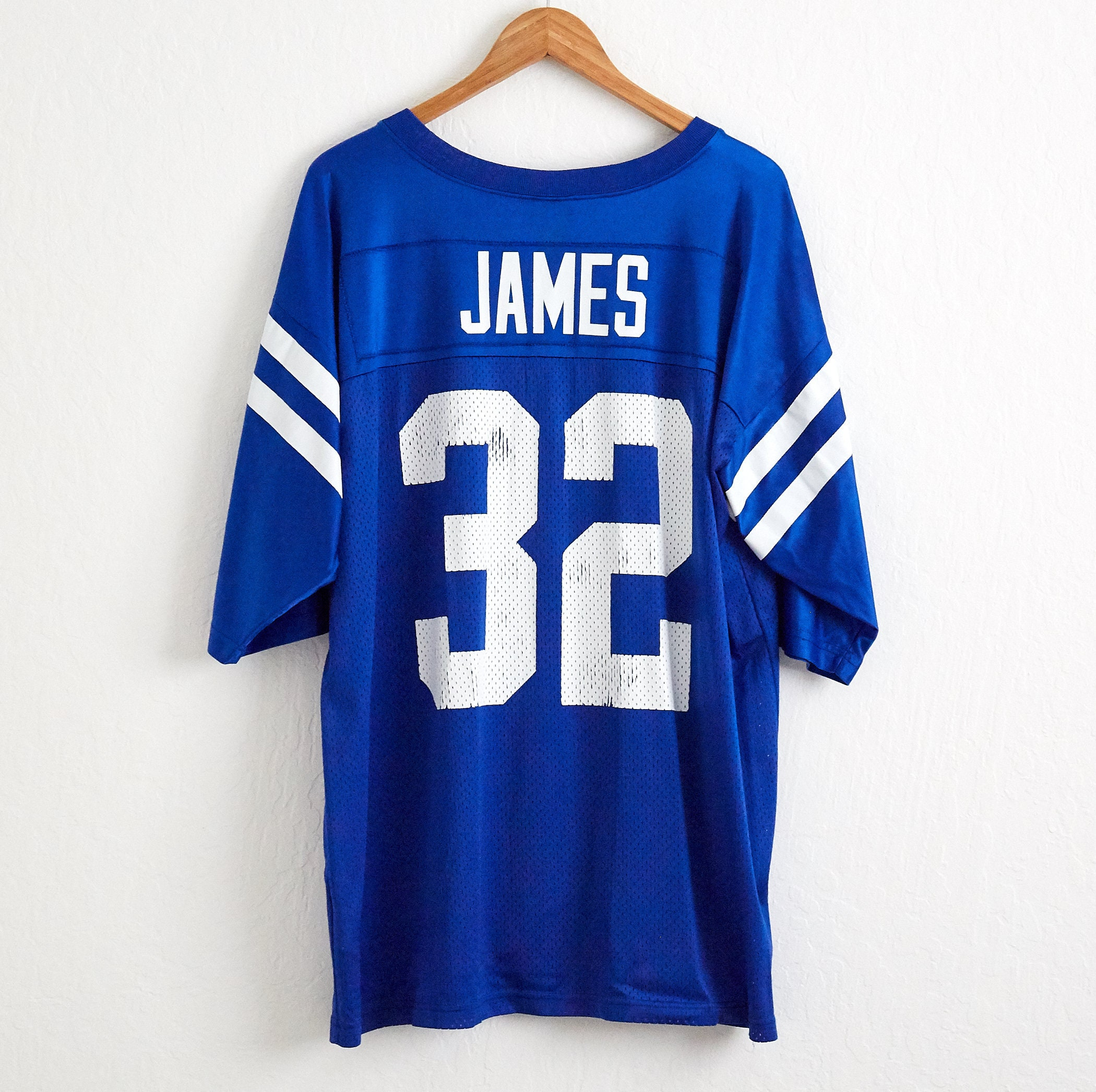 the best attitude 02dcd 3ea1c VTG Edgerrin James Indianapolis Colts Football Jersey Sz. XL Extra Large 32  by Nike NFL Mesh Tee Shirt Uniform Afc South Hoosiers Indy