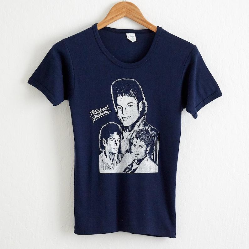 18b9380e VTG Deadstock 1984 Michael Jackson Concert Tour T Shirt Sz.   Etsy