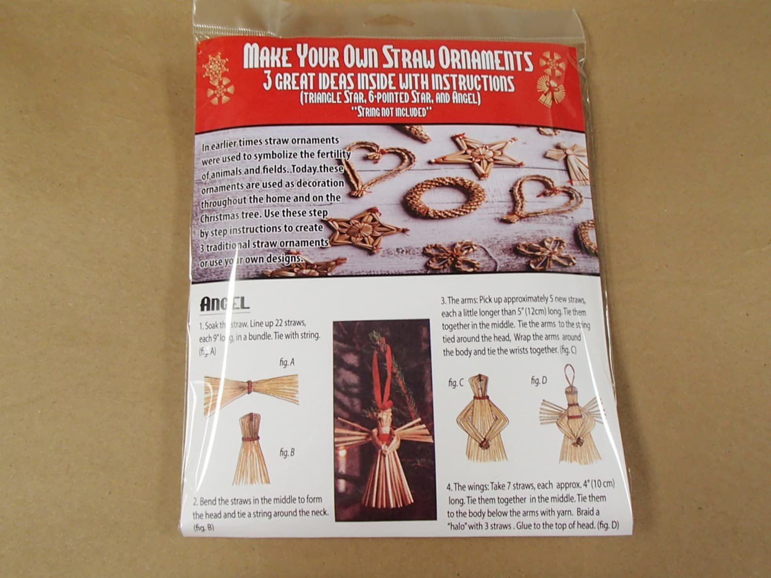 Straw Kit for Making Your Own Straw Ornaments #1499