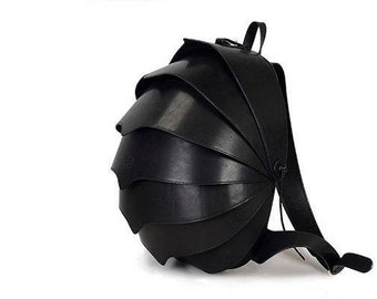 Large Backpack, Black Backpack Purse, Leather Backpack women, Leather Backpack Men, Leather Backpack women, Beetle Backpack