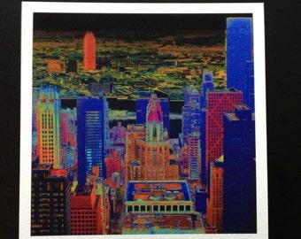 New York Pilbri artwork printed on handmade Hahnemühle paper