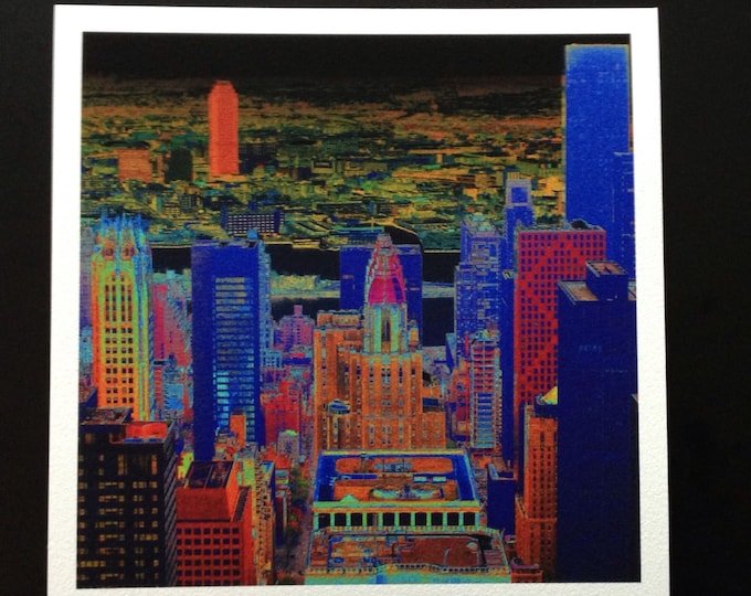 New York Pilbri artwork printed on handmade Hahnemühle paper
