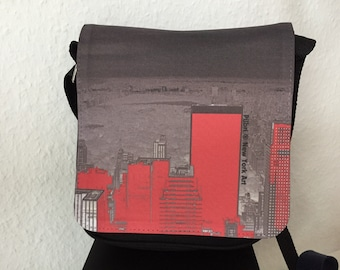 New York  Art handbag, Museum Size, Pilbri New York Art Print, wearable art, New York lover, New York fashion design
