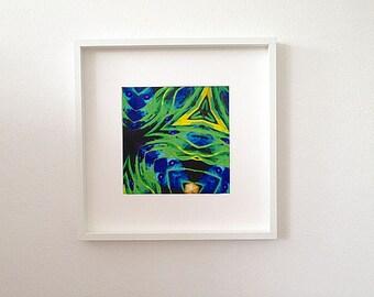 Fish Whispering, Blue Green Print, Downloadfile, Digital Print, Instant Art, Printable, Pilbri Art Print