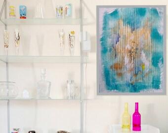 Turquoise Summer 3, Abstract Art, Printable Poster Art, Downloadfile, trendy, digital print, modern art, colourful art, digital print