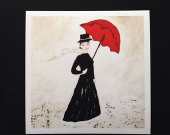 Mary Poppins Pilbri Artwork printed on handmade paper