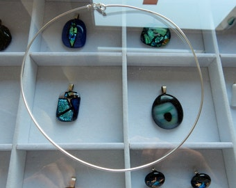 "Nice sterling silver necklace ""Omegacollier"" fits nearly to all my glass and silver pendants in my shop."