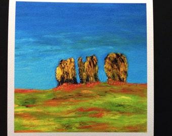 Pilbri ® Art Print of the artwork: Summermood- Sommerstimmung printed on handmade paper