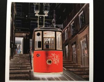 Elevator Lissabon Pilbri artwork printed on handmade Hahnemühle paper