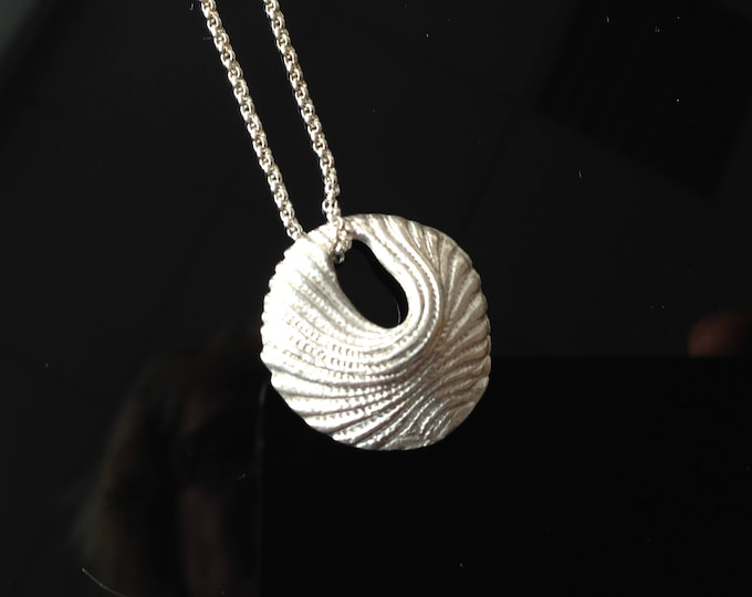 Silver necklace, ,unique Pilbri Jewelry Design, 60 cm chain in sterling silver, structure