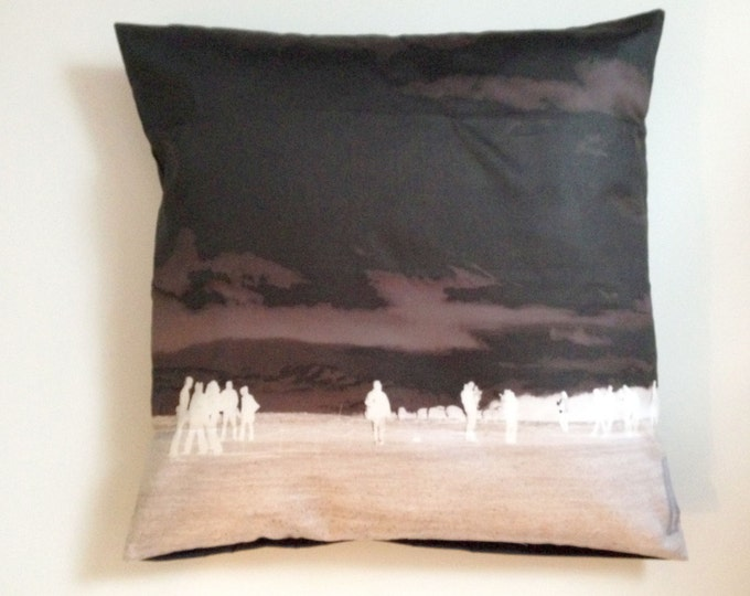 Cushion Stonehenge Art Pilbri Design without inlet, soft quality, home decoration, interior design, pillow art, black and white