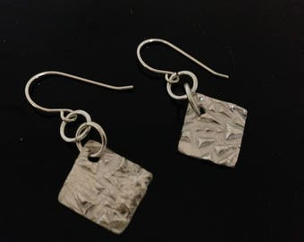 Earhangers, sterling silver, design with a structure, present for her, present with love, modern style, geometric design